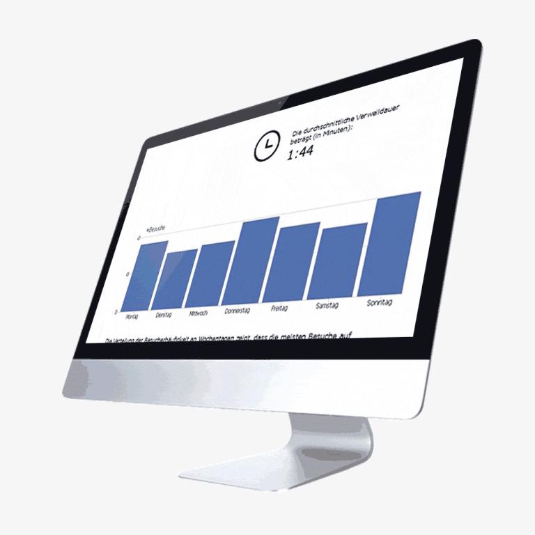 Auf dem MAC-Desktop zeigen wir Unternehmen die SEO-Reports.